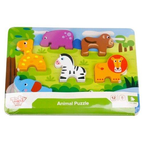 Купить Рамка-вкладыш Tooky Toy Животные (TKC394), 7 дет., Пазлы