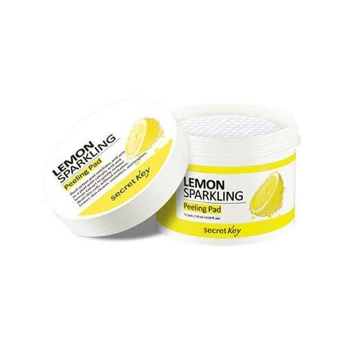 Пилинг-пэды с экстрактом лимона для лица Secret Key Lemon Sparkling Peeling Pad, 130 мл недорого