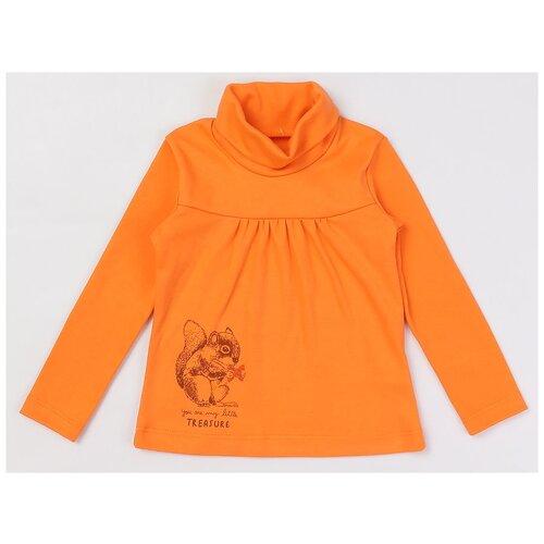 Купить Водолазка KotMarKot размер 98, оранжевый, Свитеры и кардиганы