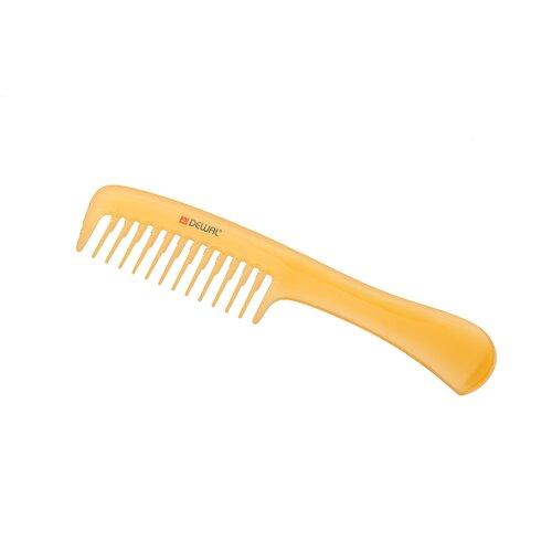 Купить Расческа рабочая DEWAL PROSUN с ручкой, антистатик, желтый 20 см DEWAL MR-CO-6807-SO