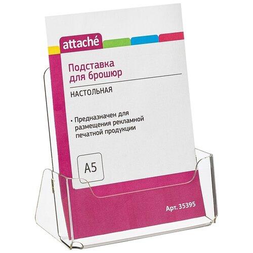 Подставка настольная Attache А5 155*32 мм вертикальная 1 отдел акрил (35395)