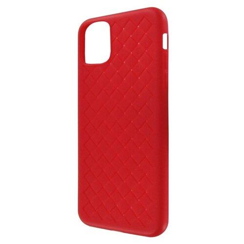 Krutoff / Накладка силиконовая плетеная Krutoff для iPhone 11 Pro Max (red)