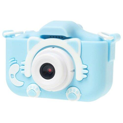 Фото - Фотоаппарат Children's Fun Camera Kitty со встроенной памятью и играми голубой фотоаппарат gsmin fun camera rabbit со встроенной памятью и играми голубой