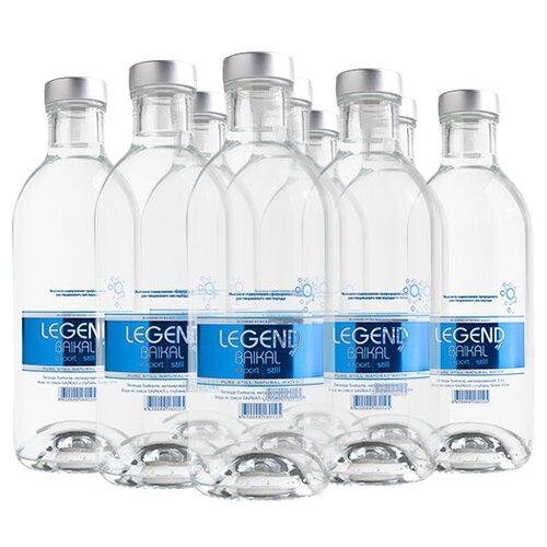 Вода питьевая глубинная Legend of Baikal негазированная, стекло, 9 шт. по 0.5 л