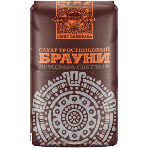Сахар Брауни тростниковый коричневый Демерара светлый, сахар-песок, 900 г