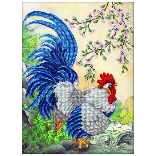 Купить Паутинка Набор для вышивания бисером Петух 28 x 38 см (Б1460), Наборы для вышивания