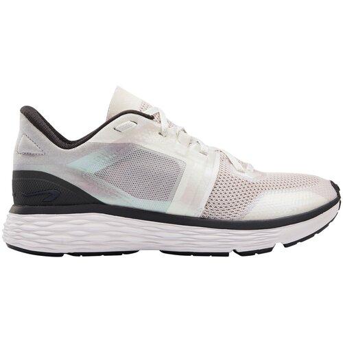 Кроссовки для бега женские RUN COMFORT светло-серые, размер: 38, цвет: Алюминиевый Серый/Сливочный KALENJI Х Декатлон