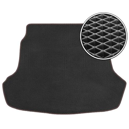 Автомобильный коврик в багажник ЕВА УАЗ Патриот 2014 - н.в (Багажник) (коричневый кант) ViceCar