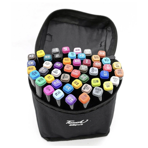 Набор профессиональных двухсторонних маркеров для скетчинга Mazari, 48 цветов по цене 795