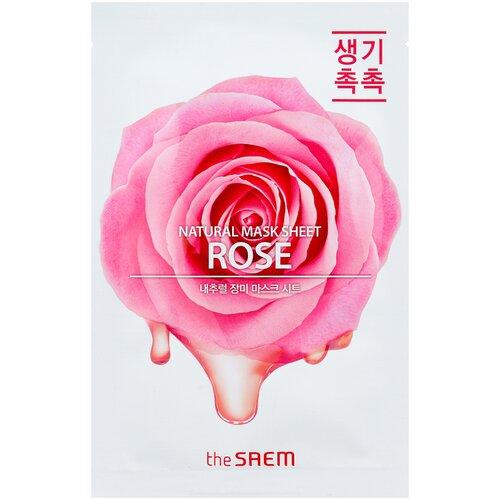 The Saem Natural Mask Sheet Rose тканевая маска с экстрактом розы, 21 мл the saem тканевая маска zoo
