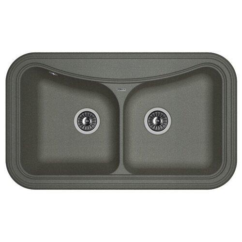 Врезная кухонная мойка 86 см FLORENTINA Крит-860 FG черный врезная кухонная мойка 86 см florentina крит 860 fs бежевый