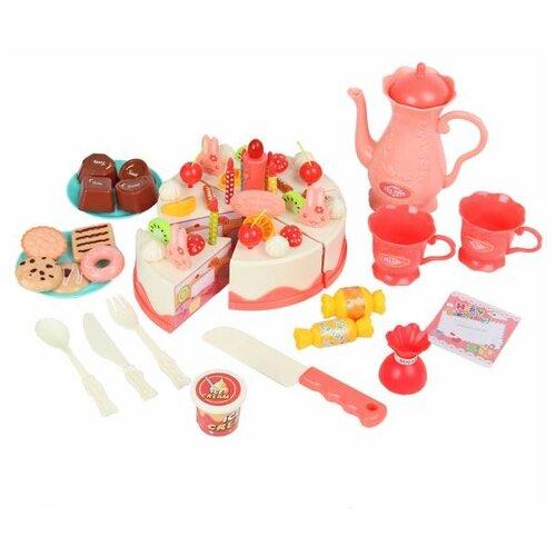 Купить Набор продуктов с посудой Veld Co 82166 розовый, Игрушечная еда и посуда