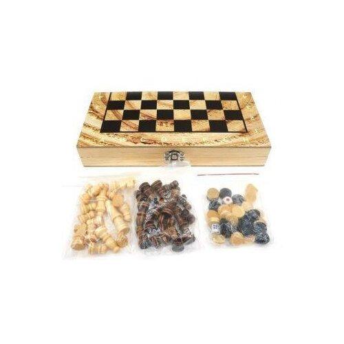 НИ 3в1 Шахматы, шашки, нарды, поле 29, 5х29, 5см