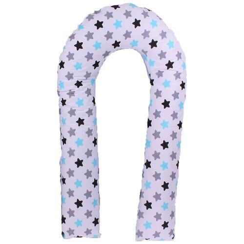 Фото - Подушка Body Pillow для беременных U холлофайбер, с наволочкой из хлопка серый/белый звезды/пряники подушка body pillow для беременных u холлофайбер с наволочкой из хлопка коричневый с бежевыми вензелями