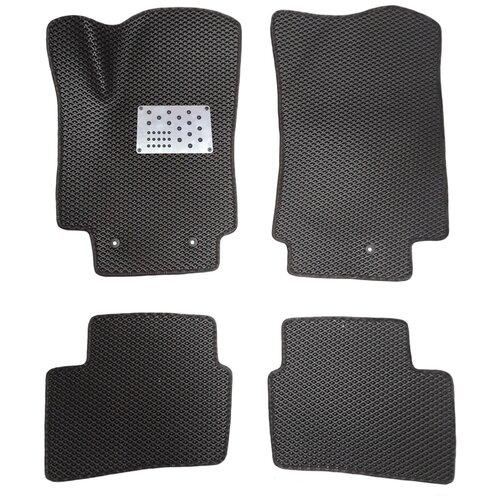 Автомобильные коврики салона Autodefender EVA c алюминиевым подпятником для Hyundai Creta 2016 - наст. Время (комплект 5 шт.) черный ромб с черным кантом автомобильные коврики eva для hyundai creta 2016 наст время