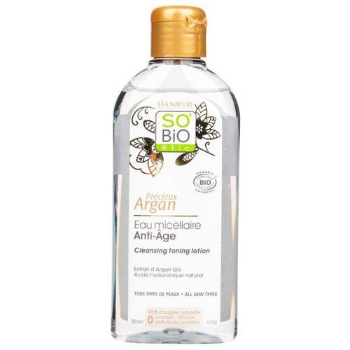 Купить Мицеллярная вода SO'BiO etic Précieux Argan Anti-aging micellar water для лица 200 мл, 200 мл