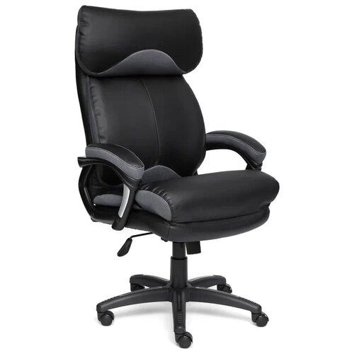 Фото - Компьютерное кресло TetChair Duke для руководителя, обивка: текстиль/искусственная кожа, цвет: черный/серый компьютерное кресло tetchair багги обивка текстиль искусственная кожа цвет черный серый