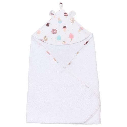 полотенца bebitof baby детское банное полотенце с уголком 75х75 Amarobaby Полотенце детское с уголком Cute Love Эскимо банное 90х90 см белый
