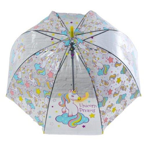 Зонт детский «Единорог», голубой, d= 81 см