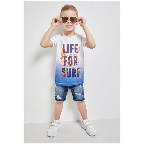 Купить Джинсовые шорты для мальчиков размер 104, синий, ТМ Acoola, арт. 20120420056, Шорты