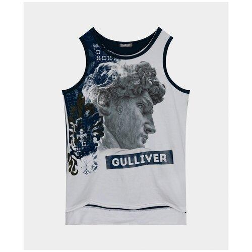 Майка с принтом Gulliver 12111BJC1003 размер 152 худи белое с принтом gulliver 12112bjc1609 размер 152