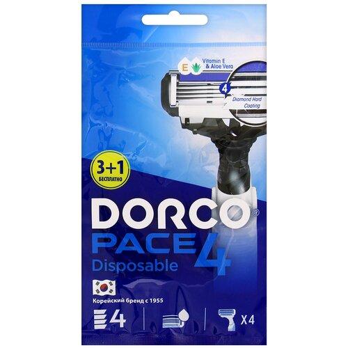 Бритвенный станок Dorco Pace 4 (одноразовый), 4 шт. бритвенный станок dorco pace 4 одноразовый 4 шт