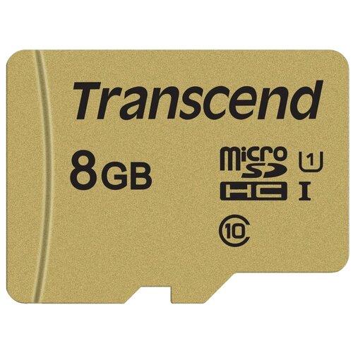 Карта памяти Transcend TS*USD500S 8 GB чтение: 95 MB/s запись: 60 MB/s адаптер на SD