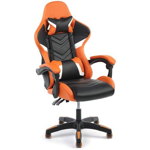 Игровое кресло Экспресс офис 204, обивка: искусственная кожа, цвет: искусственная кожа черно-оранжевая