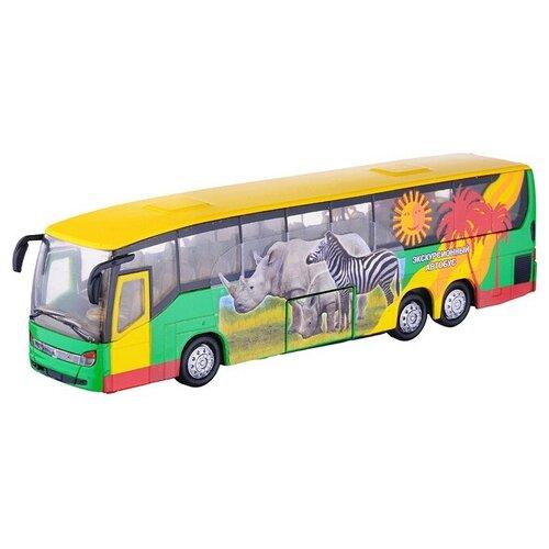 Фото - Автобус ТЕХНОПАРК Сафари (СТ10-025-1), 16 см, желтый автобус технопарк рейсовый sb 16 88 blc 7 5 см желтый