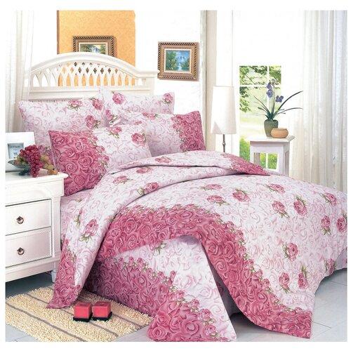 Постельное белье евростандарт СайлиД A-31, поплин, 2 наволочки 70 х 70 см, розовый