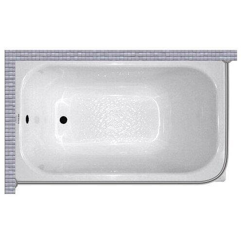 """Карниз для ванной (Штанга) """"усиленный 20"""" Triton стандарт 120x70 Г-образный, угловой"""