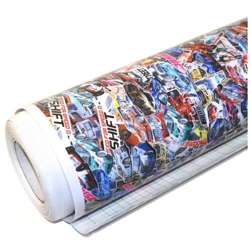 Виниловая плёнка - стикербомбинг для авто, для оклейки кузова авто: 152х70 см, рисунок №4
