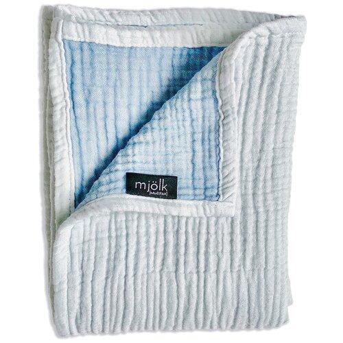 Купить Одеяло Mjolk Муслиновое 120х100 см небесный, Покрывала, подушки, одеяла