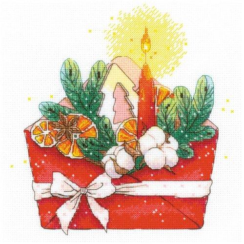 Фото - Риолис Набор для вышивания крестом Сотвори Сама Новогоднее письмо 20 х 20 см (1907) набор для вышивания риолис сотвори сама 1600 подушка панно венское кружево