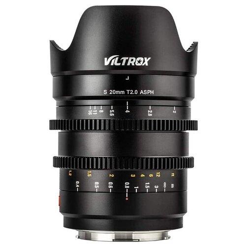 Фото - Объектив Viltrox S 20mm f/1.8 T2.0 ASPH Sony E черный объектив viltrox pfu rbmh 20mm f 1 8 asph sony e черный
