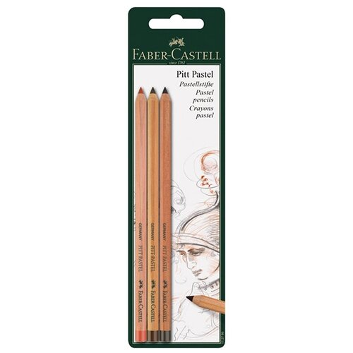 Faber-Castell Пастельные карандаши Pitt Pastel, 3 цвета (112797)