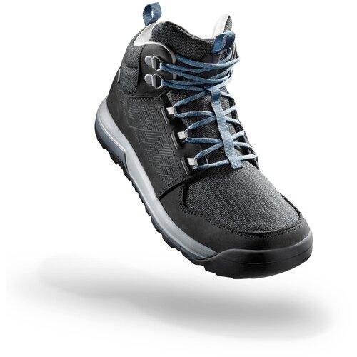 Ботинки водонепроницаемые для походов на природе женские NH500 Mid WP, размер: 41, цвет: Угольный Серый/Пастельный Бирюзовый QUECHUA Х Декатлон