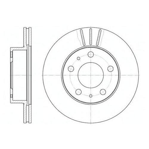 Фото - Тормозной диск Roadhouse 6504.10 для Citroen JUMPER; Fiat DUCATO; Peugeot BOXER тормозной диск задний miles k010676 280x16 для citroen jumper fiat ducato peugeot boxer