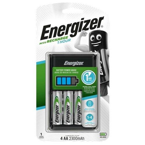 Фото - Зарядное устройство Energizer: 4 слота AA/AAA, в компл. 4 акк. AA 2300mAh батарейки energizer max типа e91 aa 4 шт 3 1 в подарок energizer