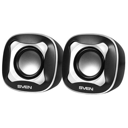 Компьютерная акустика SVEN 170 черный / белый портативная акустика sven ps 68 черный