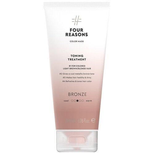 Купить Four Reasons Тонирующая маска для поддержания цвета окрашенных волос Toning Treatment Bronze, 200 мл