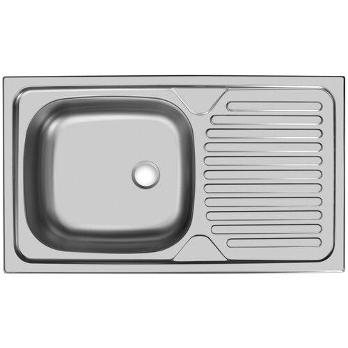 Врезная кухонная мойка 76 см, UKINOX Classic CLM760.435 -GT5, матовая нержавеющая сталь