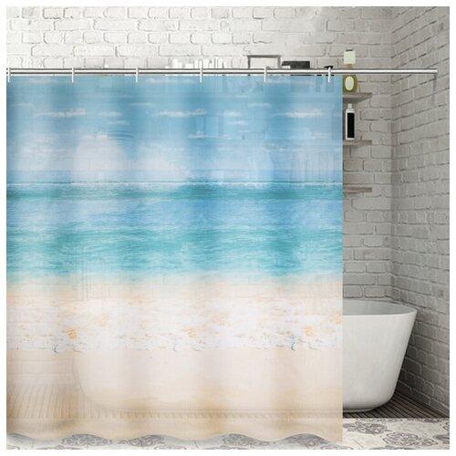 Штора для ванной Доляна Прибой 180x180 прибой штора для ванной доляна малевич 180x180 малевич