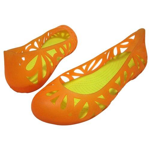 Балетки Crocs, размер 41(W11), оранжевый crocs citilane tropical slip on m