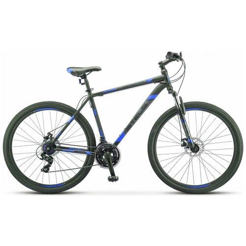 велосипед stels navigator 900 d 29 f010 21 серебристый синий Горный (MTB) велосипед Stels Navigator 900 MD 29 F010 (2019) 19 серый/синий (требует финальной сборки)