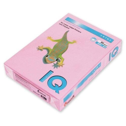 Фото - Бумага цветная А4 500л IQ COLOR, 80г/м2, розовый, PI25 1520954 бумага цветная а4 500л iq color 80г м2 желтый zg34 1520958