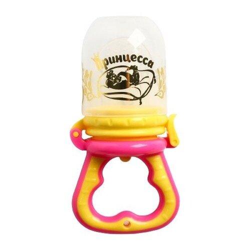 Купить Ниблер (соска для прикорма), с силиконовой сеточкой Принцесса , цвет розовый 1275204, Крошка Я, Бутылочки и ниблеры