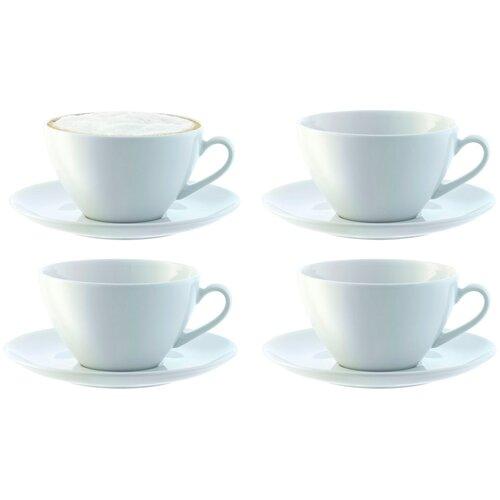 LSA Набор кофейных пар Dine 4 шт, 350 мл белый lsa набор кофейных пар fir metallic 4 предмета 100 мл белый золотистый