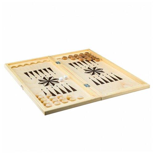 Фото - Настольная игра Игра Нарды малые 400х200х34 фишки деревянные 20мм Игра игра