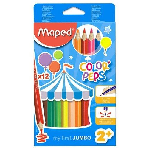 Фото - Maped Цветные карандаши Color Peps 12 цветов (834010) карандаши набор 18цв аквар maped color peps aqua кисть